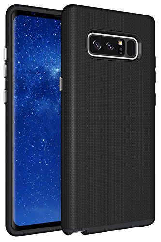 Price comparison product image Galaxy Note 8 Case, XRPow Dual Defender Protection Case Rugged Shock Drop Proof Impact Resist Protective Case for Samsung Galaxy Note 8 Black