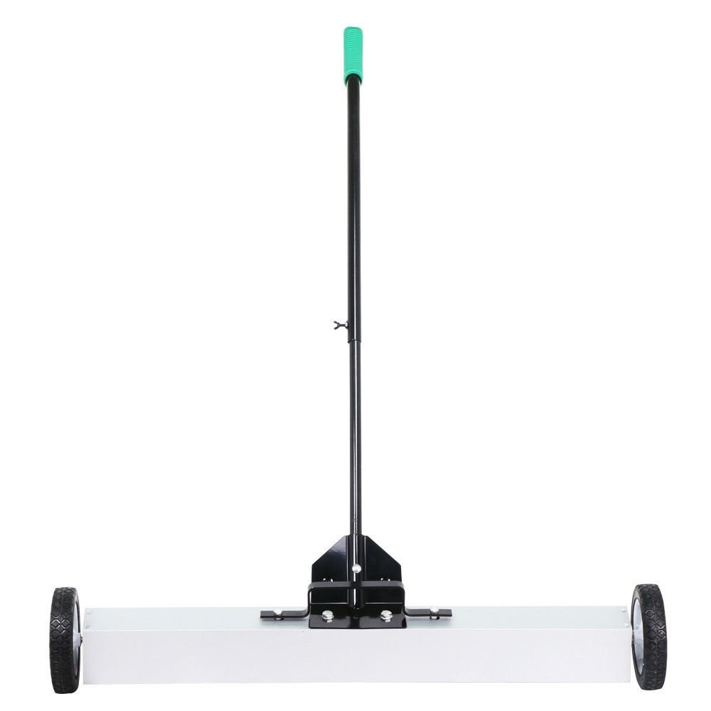 Telescoping Magnetic Sweeper 36'' Rolling Pickup Push Broom +eBook