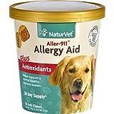 NaturVet 70 Count Aller-911 Allergy Aid Plus Antioxidants Soft Chews 5.40 oz (154 g)-(2 pack )