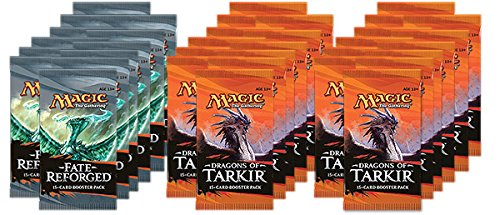 DRAFT BUNDLE - Magic: the Gathering: Dragons of Tarkir / Fate Reforged Draft Box - Eight (8) Player Booster Draft Pod: 36 Booster Packs Plus Free Pack of AoM - Deck Box Draft