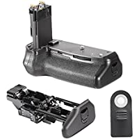 Neewer Remote Control Battery Grip BG-E14 Replacement Works with LP-E6 Battery or 6 Pieces AA Battery for Canon EOS 70D 80D DSLR Camera