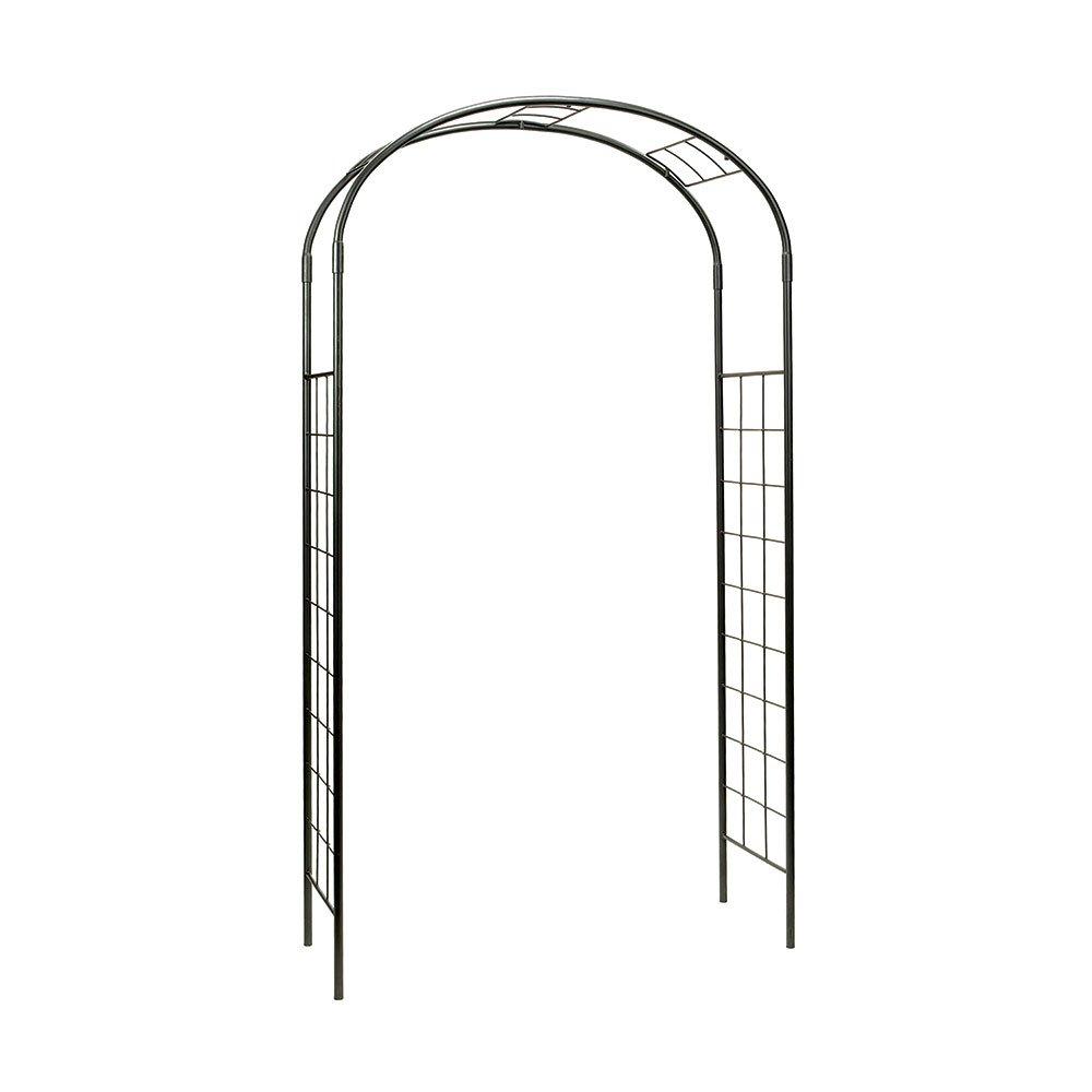 Achla Designs ARB-10 Monet Wrought Iron Arbor Metal Garden Arch, Graphite