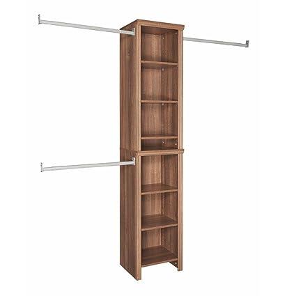 ClosetMaid Impressions 16 In. Walnut Narrow Closet Kit