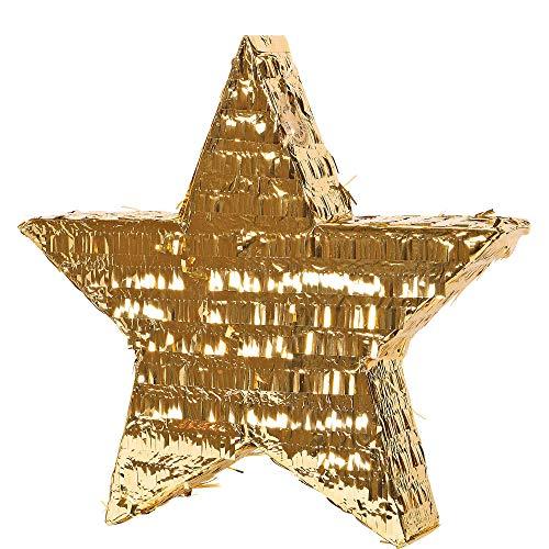 Gold Foil Star Pinata -