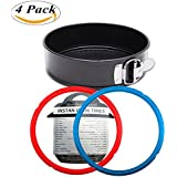 Instant Pot Accessories Springform Pan(7 Inch)/Cheesecake Pan/Leakproof Cake Pan Bakeware (6qt,8qt Available)+Instant Pot Silicone Sealing Ring for 6qt+ Free Cooker Times Tag