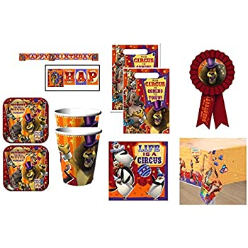 ~ Birthday Party Supplies Treat Loot 4 MADAGASCAR ESCAPE 2 AFRICA FAVOR BOXES