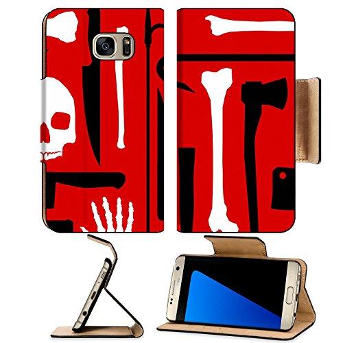 MSD Premium Samsung Galaxy S7 Edge Flip Pu Leather Wallet Case IMAGE ID: 5193770 Murder seamless (Crowbar Prop)