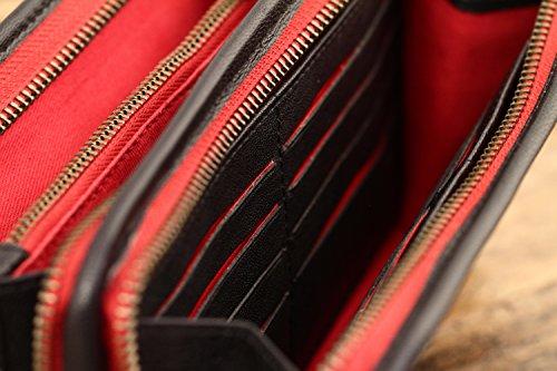 MON COMPAGNON Marrone Oliato portafoglio in pelle stile Vintage PAUL MARIUS