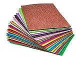 Glitter Foam Handicraft Letter Size Sheets 8.5 x 11