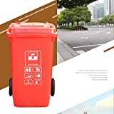 ZA Classified Outdoor Trash Can with Lid, Big