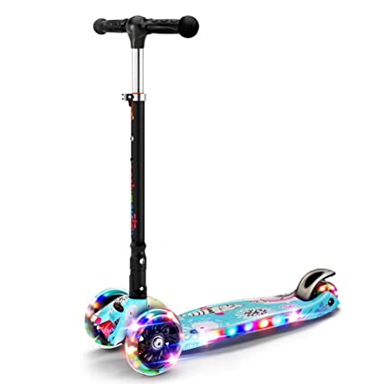 Patinete- Scooter Flash Music Plegable 4 Ruedas Kick Scooter ...