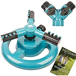 Lawn Sprinkler MyGarden Automatic Garden Water Sprinklers Lawn Irrigation System 3600 Square Feet Coverage