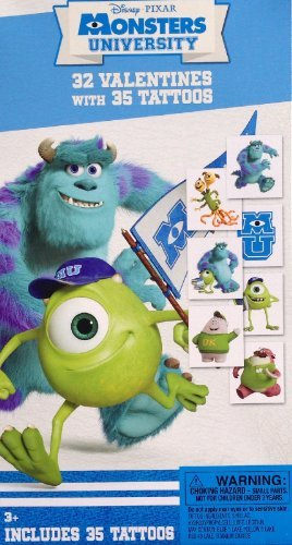 Disney Pixar Monsters University Valentines with Tattoos !]()