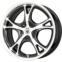 "Konig Black Wheel with Machined Face (15x6.5""/5x100mm)"