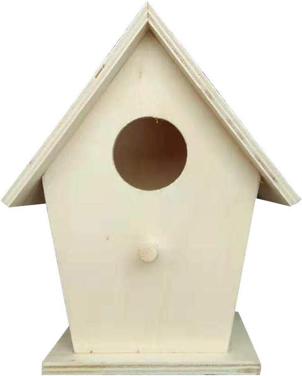 Toyvian - Caja nido de madera para pájaros y golondrinas de cría para decoración de exteriores (color madera)