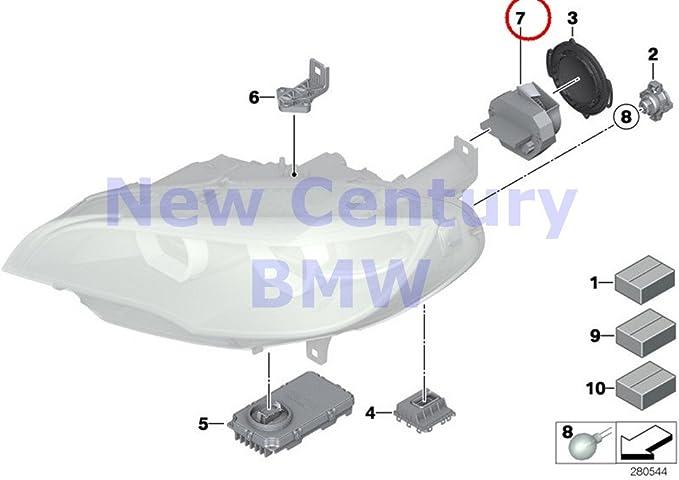 4 x BMW único partes LED de los faros LED pantalla para ventilador X5 m X6 35ix X6 50ix X6 M 740i 750i 750ix Alpina B7 Alpina B7 X 740ldx 740li 740lix