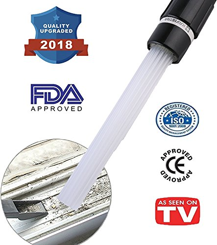 KAYISTRA Dust Cleaning Sweeper - Vacuum brush Attachment to Remove Dust cleaning and Dirt from Cars, Furniture, Corners,Jewellery, Plants.Vac Attachment Dirt Remover Tools Compatible cleaner - Attachment Hand Kit Vac