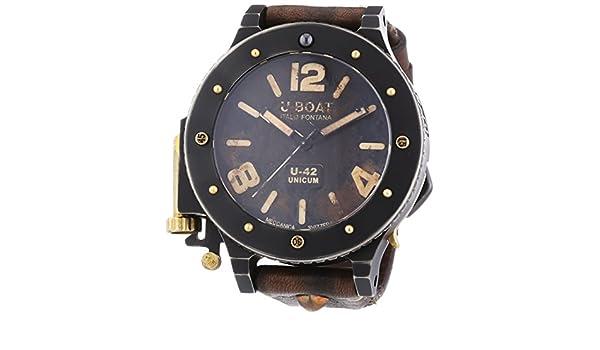 Amazon.com: U-Boat U-42 Unicum 8088 Editio Secunda Titanium - Bronze 53 mm Autom.: Watches