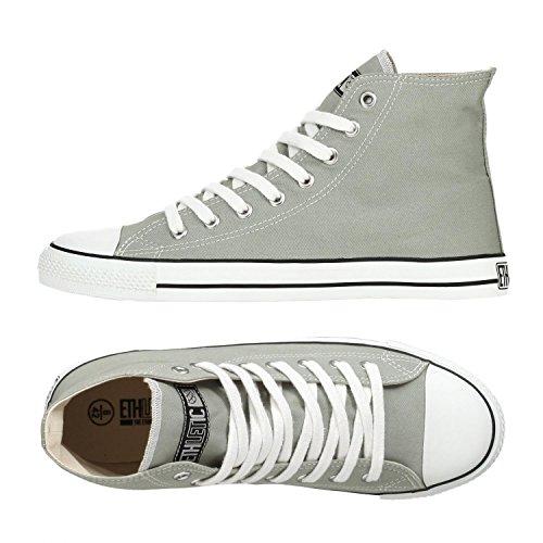 Ethletic Sneaker Vegan Hicut Classic - Farbe Urban Grey/White Aus Bio-Baumwolle