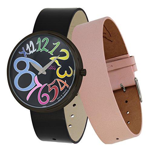 Moog Paris Ronde Art-Deco Women's Watch with Black Dial, Black Strap in Genuine Leather - M41672-G21 ()