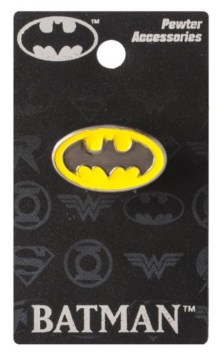 (DC Batman Logo Colored Pewter Lapel Pin)