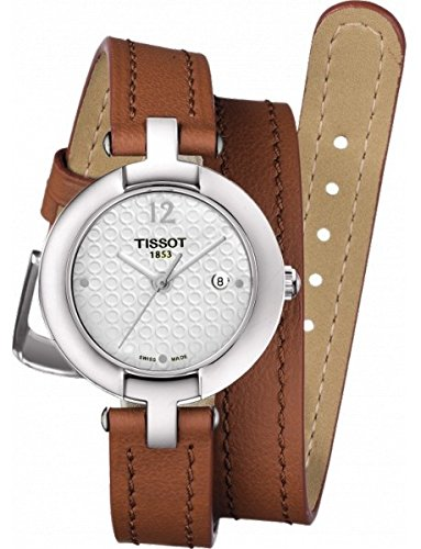 Tissot Trend Pinky Silver Dial Light Brown Leather Ladies Watch T0842101601704 (Light Dial Silver Womens)