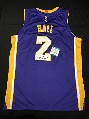 (Lonzo Ball Signed Jersey - Purple *Big Baller Brand BAS Beckett - Beckett Authentication - Autographed NBA Jerseys)