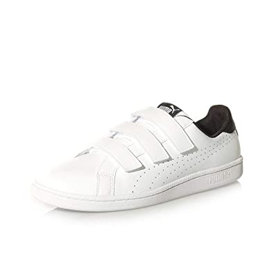 Puma Chaussures Velcro Blanc Smash Noir Homme WEeIDH9Yb2