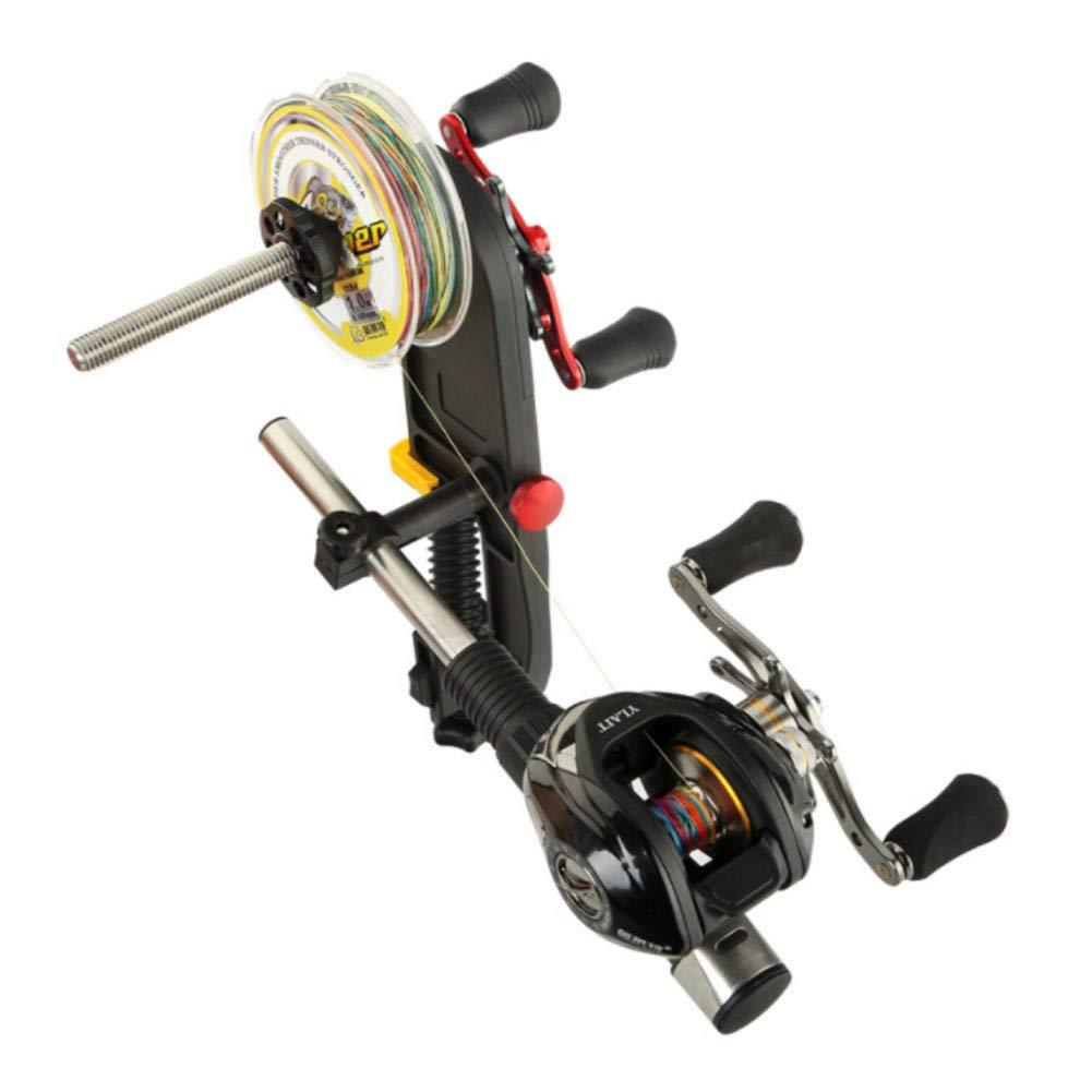 Balight L/ínea de Pesca Spooler Sistema de estaci/ón de Carrete M/áquina Multifunci/ón Spooler L/ínea de Pesca Winder Line Spooling Accesorios