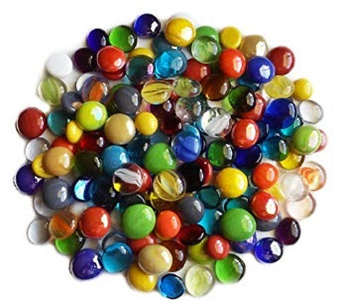 - Miracolors - 1 Lb - Mixed Colors Glass Gems - Vase Fillers (12-19mm, Approx. ½- ¾)