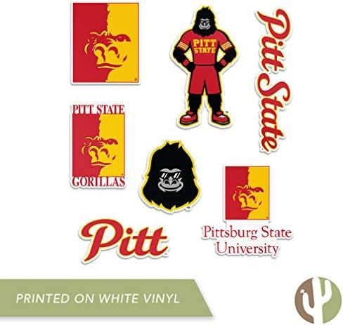 8 Inch Sticker Pittsburg State University Gorillas NCAA Name Logo Vinyl Decal Laptop Water Bottle Car Scrapbook