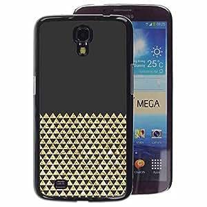 A-type Arte & diseño plástico duro Fundas Cover Cubre Hard Case Cover para Samsung Galaxy Mega 6.3 (Bling Shiny Pattern Polygon)