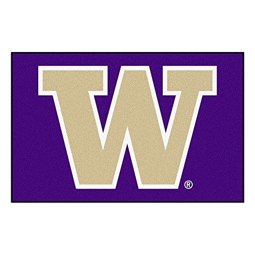 FANMATS NCAA University of Washington Huskies Nylon Face Starter Rug ()