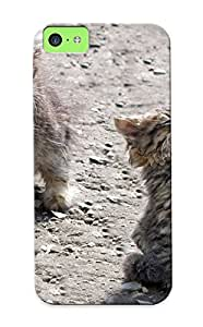 Ultra Slim Fit Hard Markrebhood Case Cover Specially Made For Iphone 5c- Kiens Babies Cat Cats