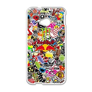 Happy Cool Sticker Bomb Graffiti Cell Phone Case for HTC One M7