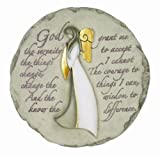 Cheap Spoontiques Angel with Serenity Prayer Stepping Stone