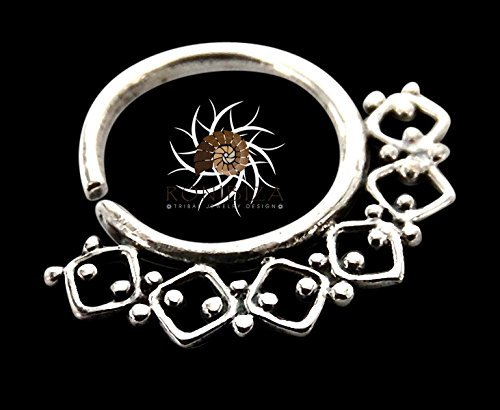 Silver Nose Ring - Silver Nose Hoop - Indian Nose Ring - Tribal Nose Ring - Nose Jewelry - Nose Piercing - Tiny Nose Ring - Nostril Ring - Nostril Jewelry - Piercing Jewelry (NL6S)