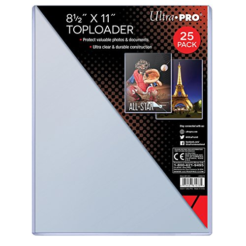 Ultra Pro Clear Toploader 8-1/2-Inches x 11-Inches (25-Count)