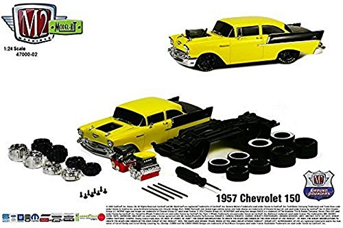 New 1:24 MODEL-KIT RELEASE 2 - 1957 Chevrolet 150 Sedan Diecast Model Car By M2 Machines - 1957 Chevrolet Sedan