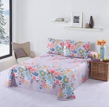 Multicolore 3 Voir Les d/étails Novotextil Couvre-lit boutis imprim/é d/ét/é et de Loisirs