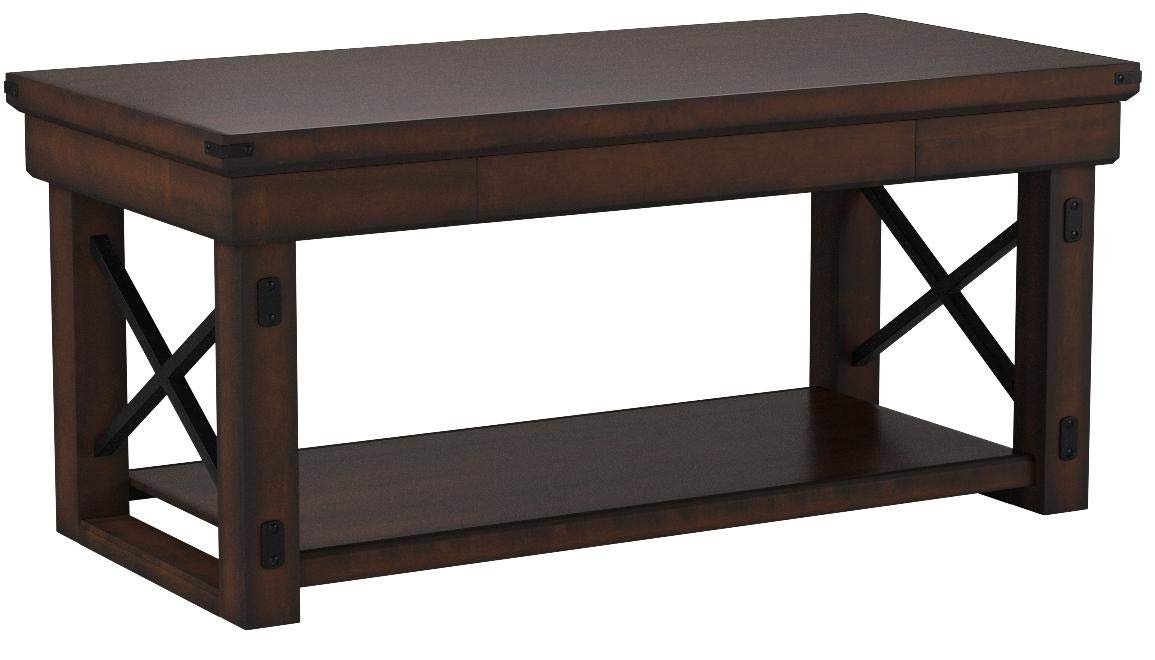 Ameriwood Home Wildwood Wood Veneer Coffee Table, Mahogany Espresso by Ameriwood Home