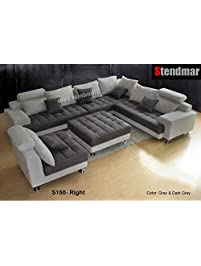 5PC NEW MODERN GRAY MICROFIBER BIG SECTIONAL SOFA SET S150RG Part 88