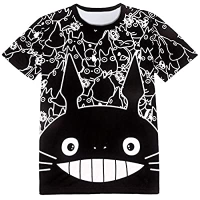 babyHealthy Unisex Adult Totoro 3D Printed Cosplay Shirt Cute Amine Round Neck Cotton T-Shirt Tee Shirt Tops