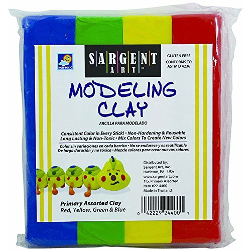SARGENT ART INC. SARGENT ART MODELING CLAY PRIMARY (Set of 6) by Sargent Art