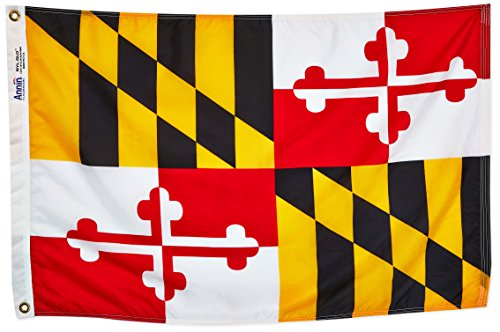 Annin Flagmakers Model 142350 Maryland State Flag 2x3 ft. Ny