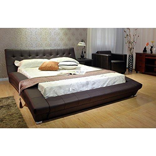 Greatime  Modem Platform Bed, Queen Size, Dark (Arch Slat Bedroom Set)