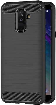 AICEK Funda Samsung Galaxy A6 Plus 2018, Negro Silicona ...