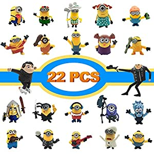 Best Epic Trends 51swUjT%2BIIL._SS300_ Action Figures, Anime Figures, LEMBO DIRECT 22 PCS Film Characters Action Figures Pack - Cartoon Movie Mini PVC Figure…