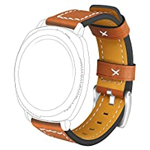 20mm Bands For Moto 360 2nd Gen. Mens 42mm Watch Band Replacement Leather Strap for Motorola Moto 360 2nd Gen. Mens 42mm Smartwatch