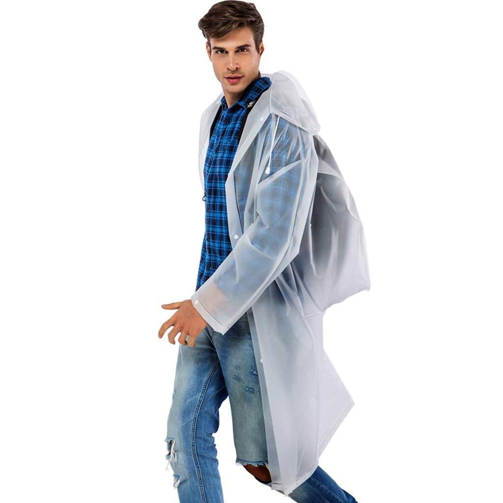 blanc grand OLDJTK Imperméable imperméable Ensemble Costume Adulte et équipeHommest de Voyage en Plein air réutilisable pour Adultes (Couleur   blanc, Taille   L)